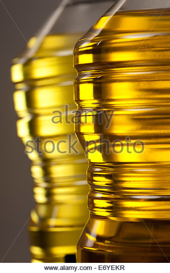 Bottles of oil - Stock-Bilder