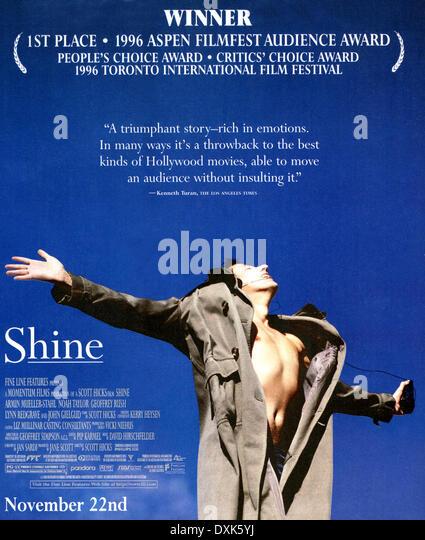 SHINE (AUS 1996) MOMENTUM FILMS GEOFFREY RUSH - Stock Image