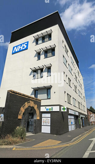 NHS Bath Street Health & Wellbeing Centre, Warrington, Cheshire, England, UK - Stock Image