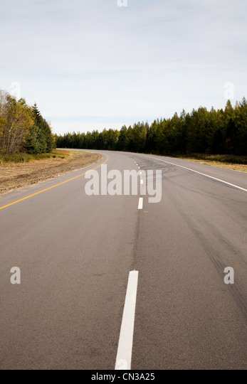 Rural highway, Ontario, Canada - Stock Image