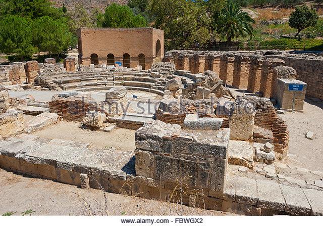 Odeon. Gortyn, Crete, Greece - Stock Image