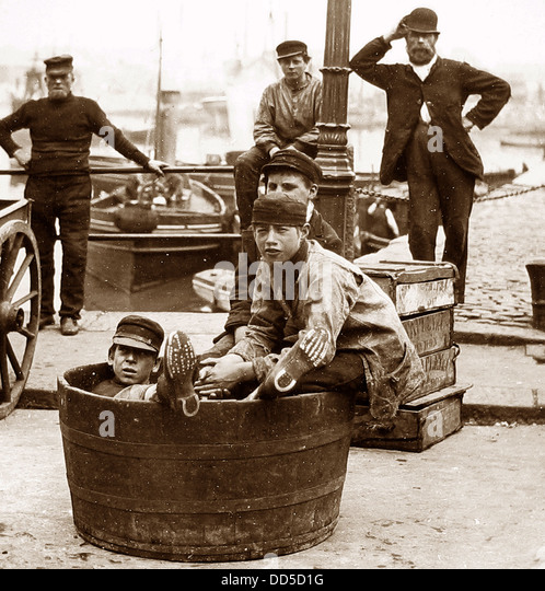Plymouth Docks Victorian period - Stock Image