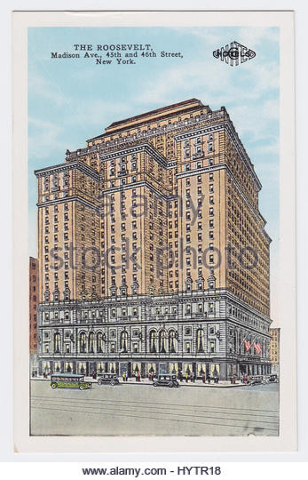 The Roosevelt Hotel & Madison Avenue, New York City, United States - Stock Image
