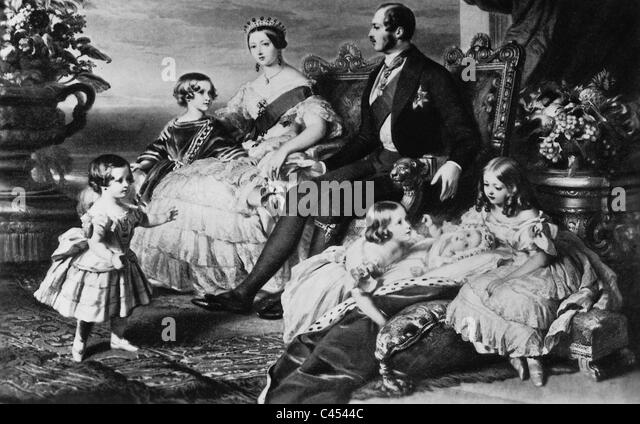 Queen Victoria of Great Britain with her family, 1850 - Stock-Bilder