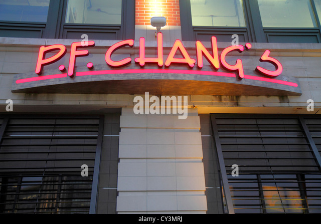 Rhode Island Providence Providence Place Mall P. F. Chang's Chinese food restaurant - Stock Image