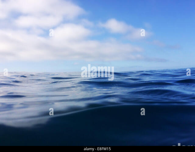 Close-up of the ocean - Stock Image