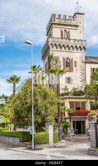 Hotel Castello Seeschloss, Ascona, Ticino, Switzerland   Hotel Castello Seeschloss, Ascona, Tessin, Schweiz - Stock-Bilder