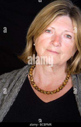 Shot of a Senior Lady Looking Sympathetically - Stock Image