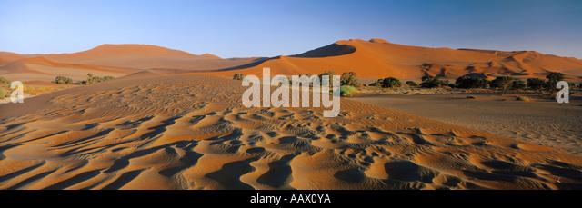 Sand Dunes in the Namib Desert Sossuvlei Namibia - Stock-Bilder