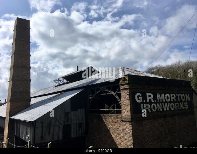 G R Morton Ironworks, Blists Hill, Ironbridge Gorge, World Heritage Site, Shropshire, England - Stock Image