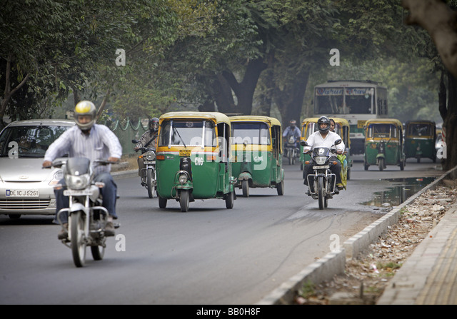 Street scenery New Delhi India - Stock-Bilder