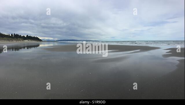 Beach and dune panorama - Stock Image