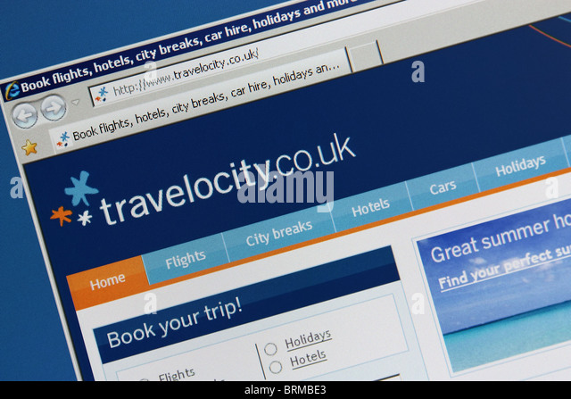 travel booking online travelocity - Stock-Bilder