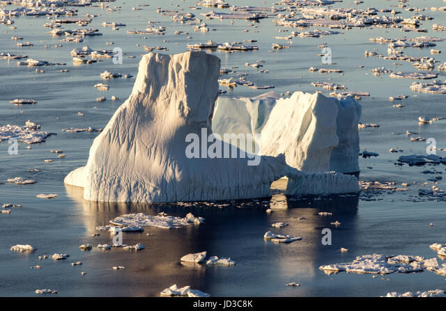 Iceberg in Iceberg Alley near Crow Head, Twillingate, Newfoundland, Canada - Stock Image