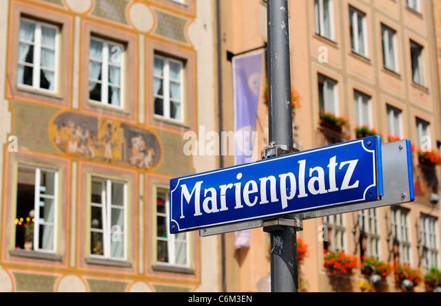 Marienplatz square, Munich, Germany - Stock Image