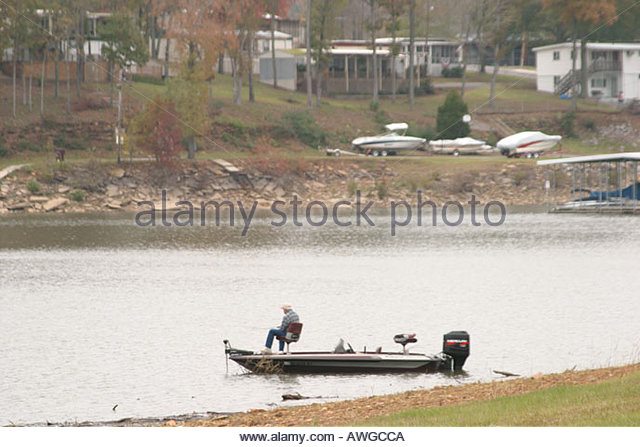Alabama Cullman Smith Lake fishing - Stock Image