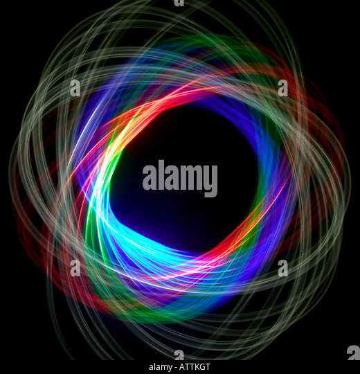 Physiogram spiral using three colour filters - Stock-Bilder