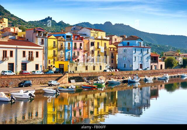 Bosa Old Town, Riviera del Corallo, Sardegna (Sardinia Island), Italy - Stock Image