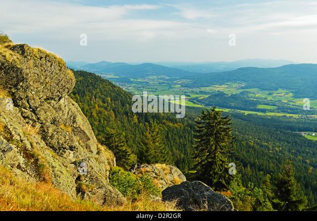 View of the Bavarian Forest, near Furth im Wald, Bavaria, Germany, Europe - Stock-Bilder