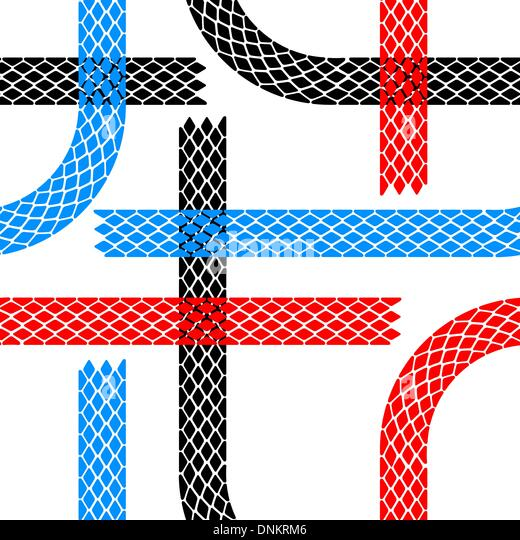 Seamless wallpaper tire tracks pattern illustration vector background - Stock Image
