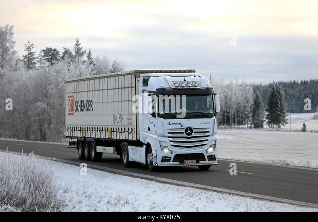 Mercedes lorry stock photos mercedes lorry stock images for Mercedes benz winter event commercial
