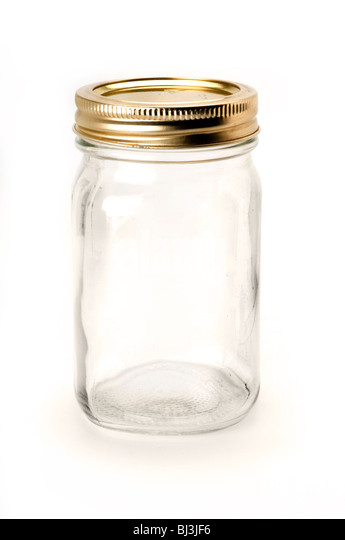 empty jars - Stock Image