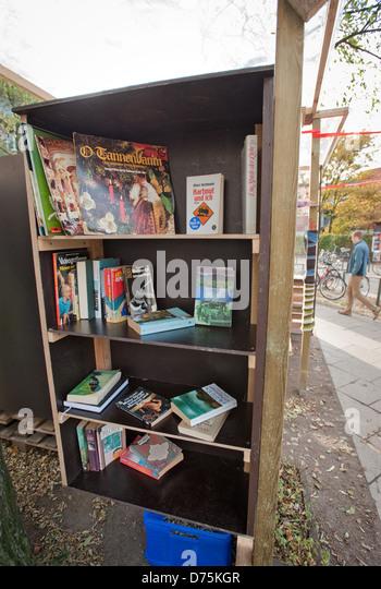 Hamburg, Germany screened books to take home - Stock Image