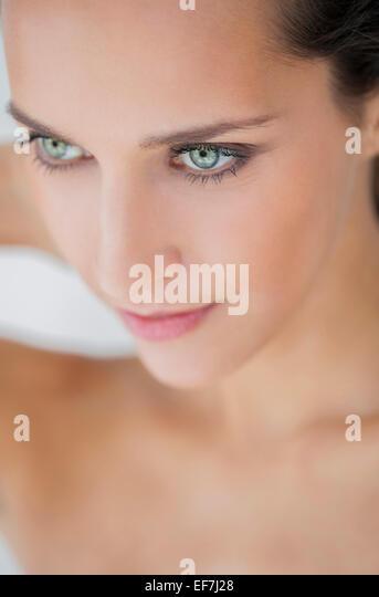 Close-up of a beautiful woman posing - Stock Image