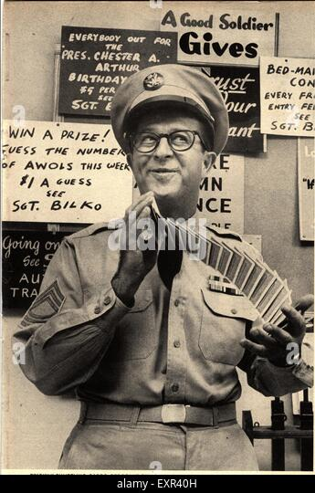 1950s USA Phil Silvers as Sgt Bilko Magazine Plate - Stock Image