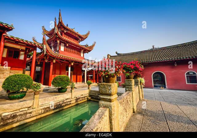 Fuzhou, China at Yongquan Temple on Drum Mountain. - Stock Image
