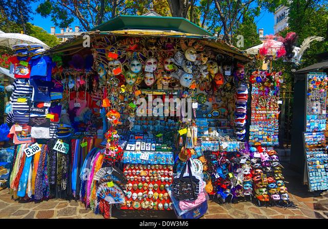 Italy, Europe, travel, Venice, Souvenir, shop, tourism, - Stock-Bilder