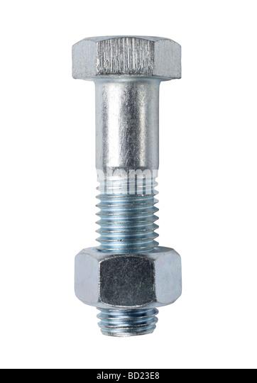 Nut and Bolt hardware - Stock Image