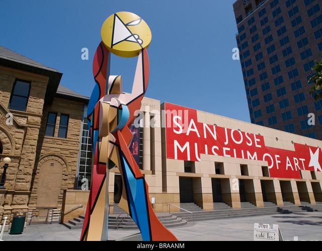 Figure Holding the Sun by Italo Scanga San Jose Museum of Art (SJMA) - Stock Image