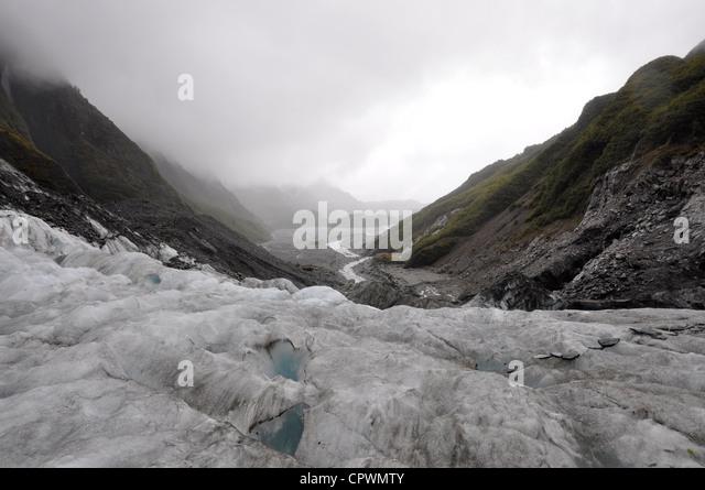 Franz Josef Glacier West Coast South Island New Zealand - Stock Image