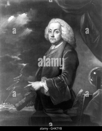 Benjamin Franklin, 'Experiments with Electricity' - Stock Image