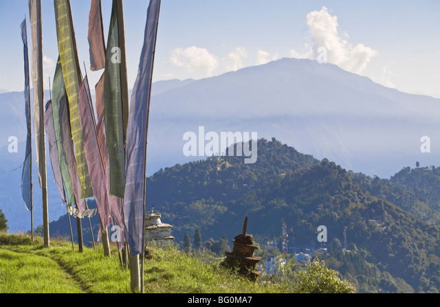 Sangachoeling Gompa, the second oldest Gompa in Sikkim, Pelling, Sikkim, India, Asia - Stock Image