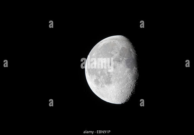 half moon,last quarter, Germany, Bavaria - Stock Image
