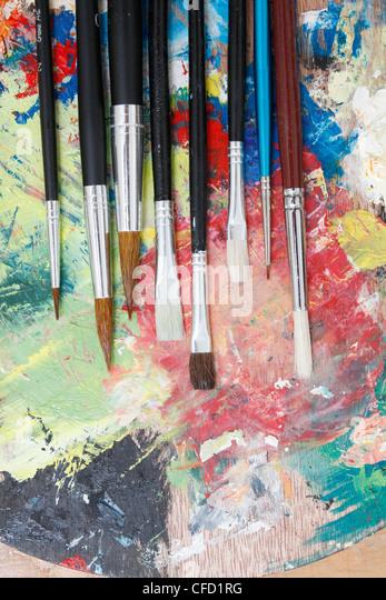 Paintbrushes - Stock-Bilder