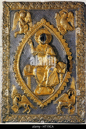 The Gospels Book of Matilda of Canossa, 11th century. Artist: West European Applied Art - Stock Image