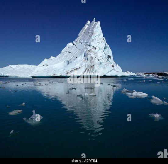 Icebergs, Jokulsarlon glacial lagoon, Iceland - Stock Image