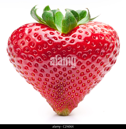 Strawberry heart. Isolated on a white background. - Stock-Bilder