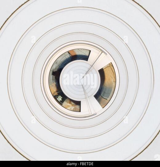 Abstract Concentric White Pattern - Stock Image