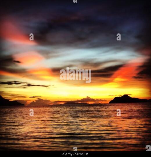 Langkawi sunset - Stock Image