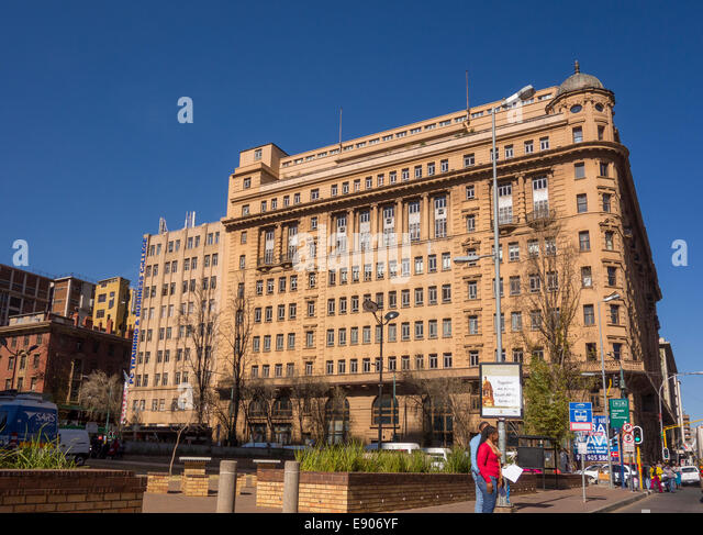 JOHANNESBURG, SOUTH AFRICA - Building in city center. - Stock Image