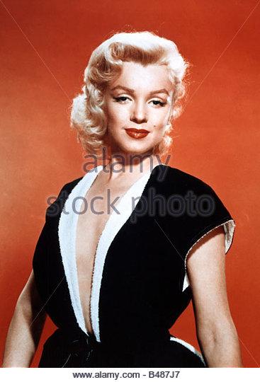 Monroe, Marilyn, 1.6.1926 - 5.8.1962, American actress, half length, 1950s, birth name: Norma Jean Mortensen, blondes, - Stock Image