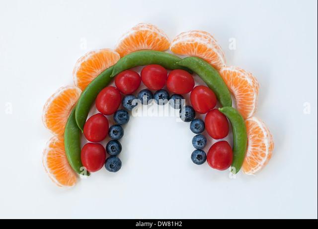 Food rainbow - Stock Image