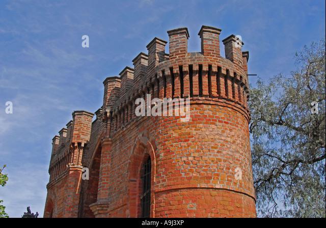 Santiago Chile Cerro Santa Lucía Castillo Castle Hidalgo - Stock Image