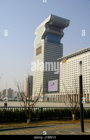 This 7 Star hotel was built for the 2008 Olympics and is located near the aquatic center and the Birds Nest. Beijing, - Stock Image