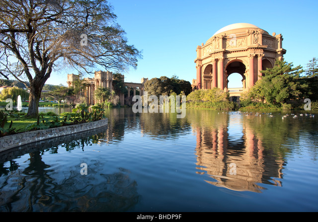 The Palace of Fine Arts , built 1915 for the Panama- Pacific Internation exhibition - Stock-Bilder