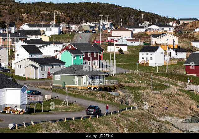 Town of Crow Head, Twillingate, Newfoundland, Canada - Stock Image